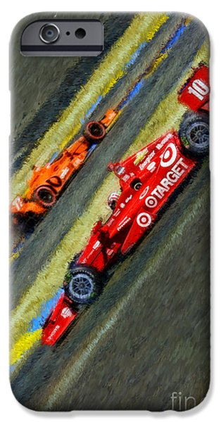 Indy Car iPhone Cases - Indy Cars Tony Kanaan iPhone Case by Blake Richards