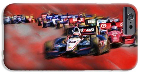 Indy Car iPhone Cases - Indy Cars Will Power iPhone Case by Blake Richards