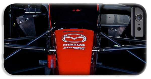 Indy Car iPhone Cases - Indy Head On iPhone Case by Dave Koontz