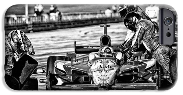 Indy Car iPhone Cases - Indy Pit  iPhone Case by Kevin Cable