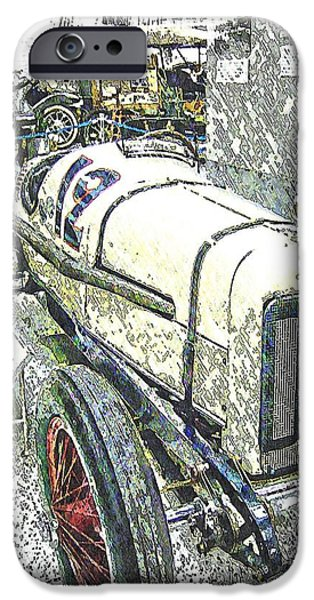 Indy Car Mixed Media iPhone Cases - Indy Race Car 2 iPhone Case by Spencer McKain