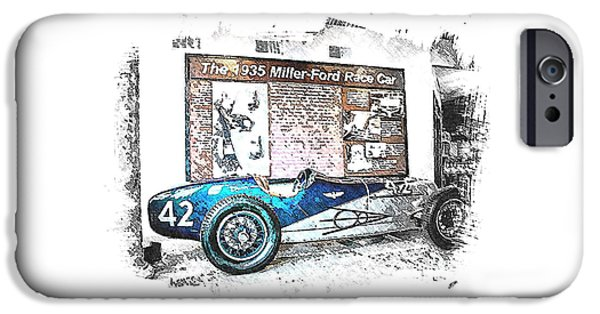 Indy Car Mixed Media iPhone Cases - Indy Race Car 3 iPhone Case by Spencer McKain