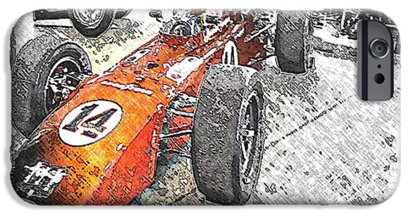 Indy Car iPhone Cases - Indy Race Car 4 iPhone Case by Spencer McKain