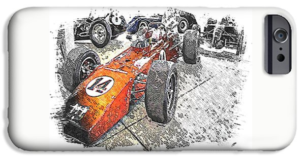 Indy Car Mixed Media iPhone Cases - Indy Race Car 4 iPhone Case by Spencer McKain