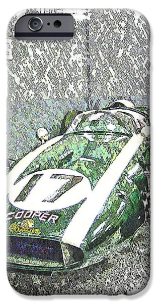 Indy Car Mixed Media iPhone Cases - Indy Race Car 5 iPhone Case by Spencer McKain