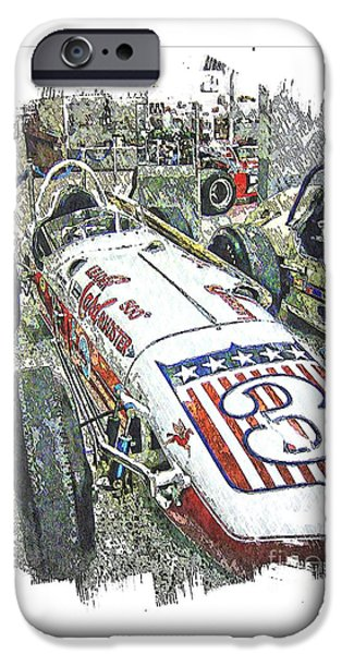 Indy Car Mixed Media iPhone Cases - Indy race Car 6 iPhone Case by Spencer McKain
