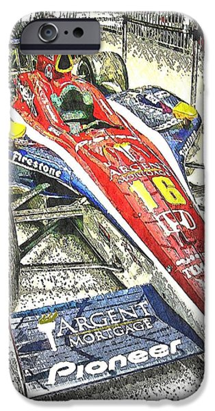Indy Car iPhone Cases - Indy Race Car 7 iPhone Case by Spencer McKain