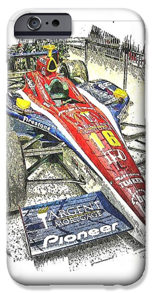 Indy Car Mixed Media iPhone Cases - Indy Race Car 7 iPhone Case by Spencer McKain