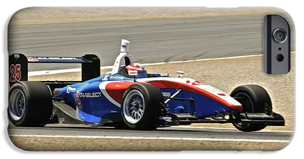 Indy Car iPhone Cases - Indy Red White and Blue iPhone Case by Dave Koontz