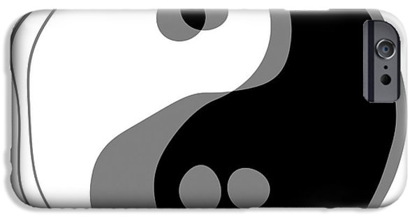 Opposing Forces iPhone Cases - Inebriated Yin Yang iPhone Case by Daniel Hagerman