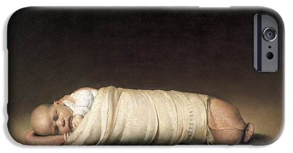 Caravaggio iPhone Cases - Infant iPhone Case by Odd Nerdrum