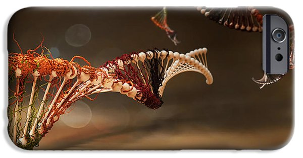 Dna Art iPhone Cases - Infected iPhone Case by Adam Vance