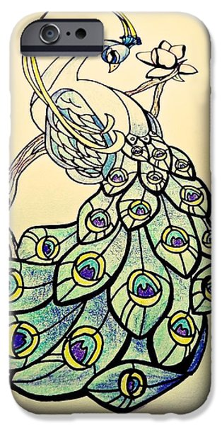 Cherry Blossoms Drawings iPhone Cases - Infinite Beauty iPhone Case by Lindsay Wood