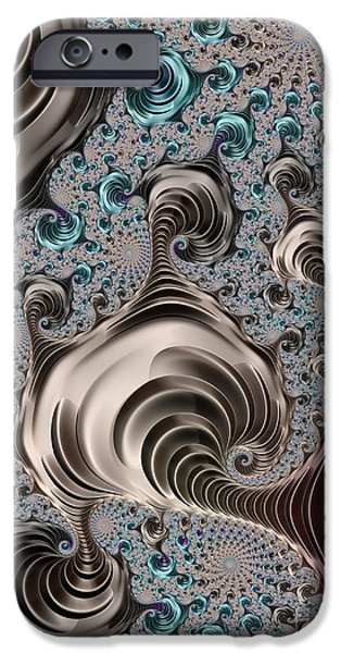 Concept Digital Art iPhone Cases - Infinite Spirals  iPhone Case by Heidi Smith