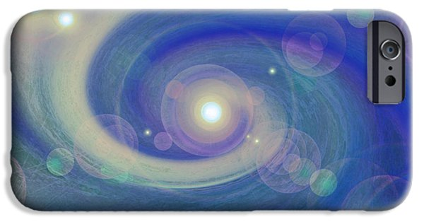 Celtic Spiral iPhone Cases - Infinity blue iPhone Case by First Star Art