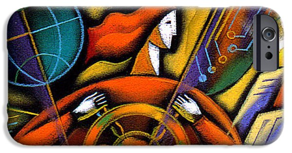 Boss Paintings iPhone Cases - Information iPhone Case by Leon Zernitsky