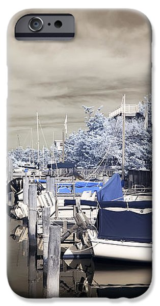 Infrared Boats at LBI iPhone Case by John Rizzuto