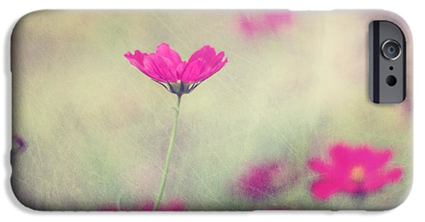 Fuchsia iPhone Cases - Ingrids Garden iPhone Case by Amy Tyler