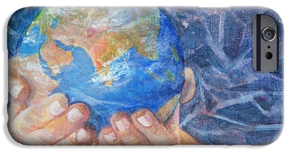 Earth Paintings iPhone Cases - Inherit the Earth iPhone Case by Arlissa Vaughn