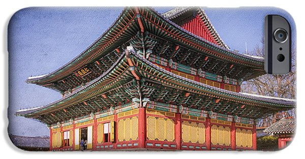 National Treasure iPhone Cases - Injeongjeon Hall Seoul iPhone Case by Joan Carroll