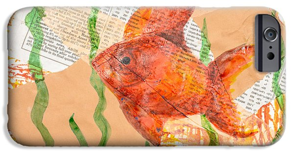 Fiery iPhone Cases - Inky Fish iPhone Case by Amanda And Christopher Elwell