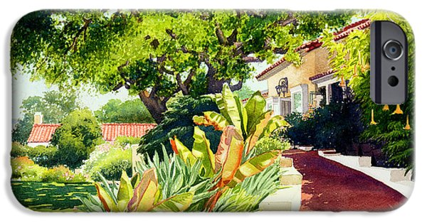Roof iPhone Cases - Inn at Rancho Santa Fe iPhone Case by Mary Helmreich