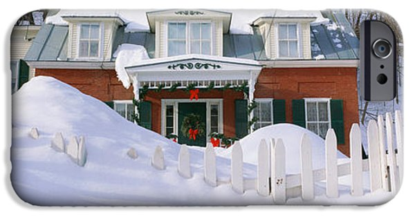 Wintertime iPhone Cases - Inn At Wintertime, Vermont iPhone Case by Panoramic Images
