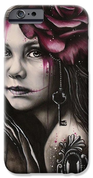 Macabre iPhone Cases - Inner Child iPhone Case by Sheena Pike