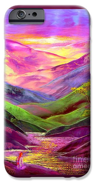 Colorful Paintings iPhone Cases - Inner Flame iPhone Case by Jane Small