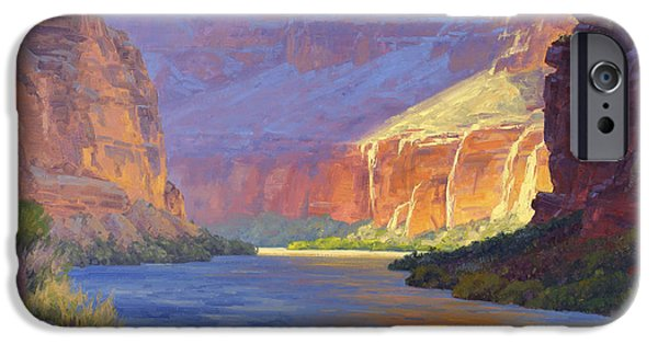 Reflection In Water iPhone Cases - Inner Glow of the Canyon iPhone Case by Cody DeLong