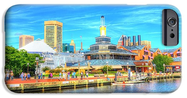 Inner World iPhone Cases - Inner Harbor and WTC iPhone Case by Debbi Granruth