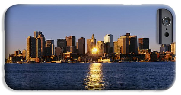 City. Boston iPhone Cases - Inner Harbor Boston Ma iPhone Case by Panoramic Images