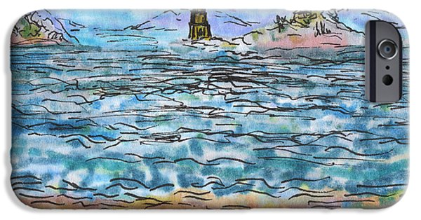 Abstract Seascape iPhone Cases - Inner Islands iPhone Case by Regina Valluzzi