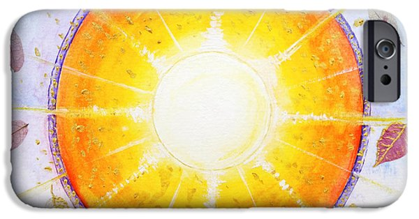 Inner Self Paintings iPhone Cases - Inner Light iPhone Case by Moira Rowe