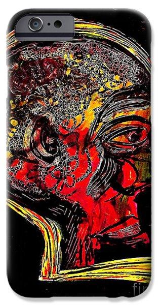 Sarah Loft iPhone Cases - Inner Man iPhone Case by Sarah Loft