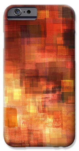Abstract Digital Paintings iPhone Cases - Inner Sanctum 2 iPhone Case by Craig Tinder
