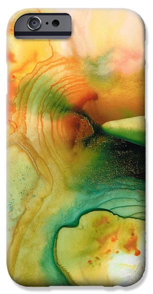 Inner Strength - Abstract Painting by Sharon Cummings iPhone Case by Sharon Cummings