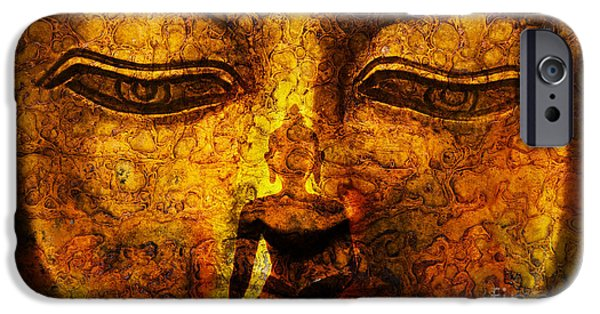 Buddhism iPhone Cases - Inner Strength  iPhone Case by Tim Gainey