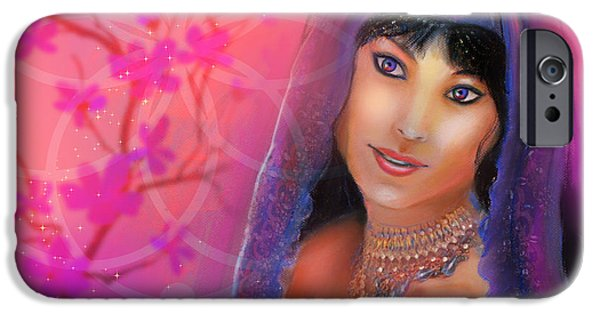 Innocence Pastels iPhone Cases - Innocence Goddess iPhone Case by Lucinda  Rae