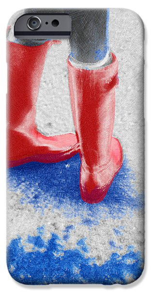 Innocence Mixed Media iPhone Cases - Innocence In The Rain iPhone Case by Tony Rubino