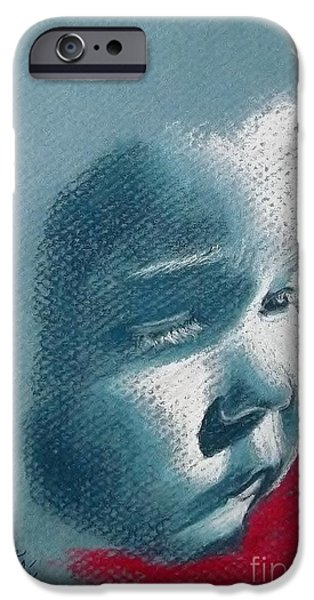 Innocence Pastels iPhone Cases - Innocence iPhone Case by Lise PICHE