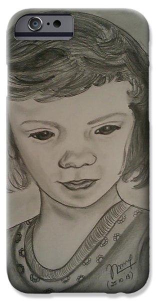 Innocence iPhone Case by Nandini  Thirumalasetty