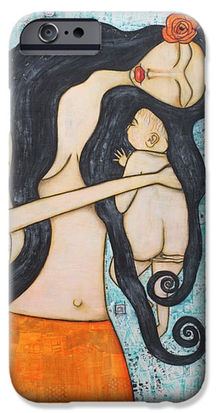 Innocence Mixed Media iPhone Cases - Innocence iPhone Case by Natalie Briney