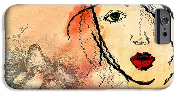 Innocence Mixed Media iPhone Cases - Innocence Remembered iPhone Case by Terry Fleckney