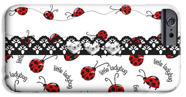 Ladybug iPhone Cases - Innocent Ladybugs  iPhone Case by Debra  Miller