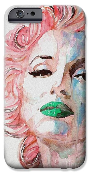 Watercolors Paintings iPhone Cases - Insecure  Flawed  but Beautiful iPhone Case by Paul Lovering