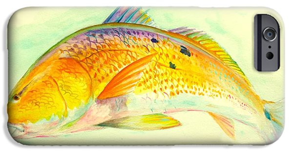 Redfish iPhone Cases - Inshore Gold  iPhone Case by Yusniel Santos