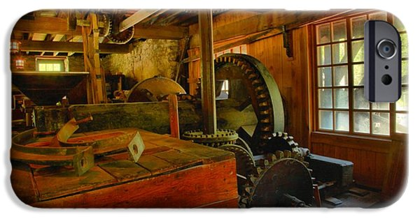 Grist Mill iPhone Cases - Inside A Grist Mill iPhone Case by Adam Jewell