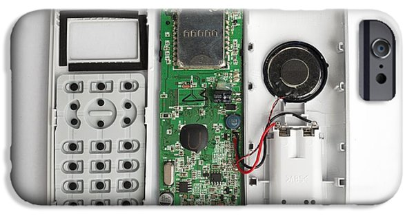 Component iPhone Cases - Inside A Phone iPhone Case by Robert Brook