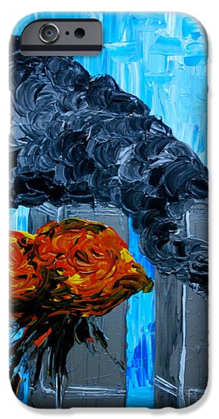 Iraq Paintings iPhone Cases - Inside Job iPhone Case by Jacqueline Athmann